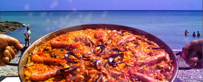 Paella en la playa Peñiscola